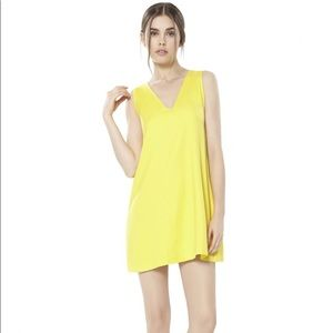 "Alice + Olivia ""Amber"" Dress in Bright Yellow"